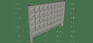 Залізобетонні панелі огорожі